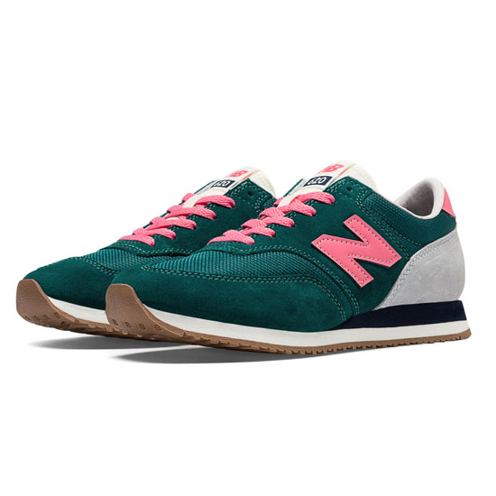 WOMEN'S New Balance 620 Wintergreen with Bubble Gum Pink & Light Grey