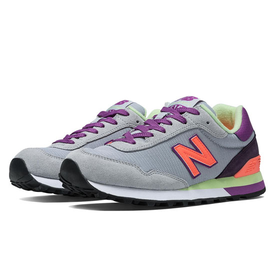 WOMEN'S New Balance 515 Silver Mink with Fiji & Purple Cactus Flower