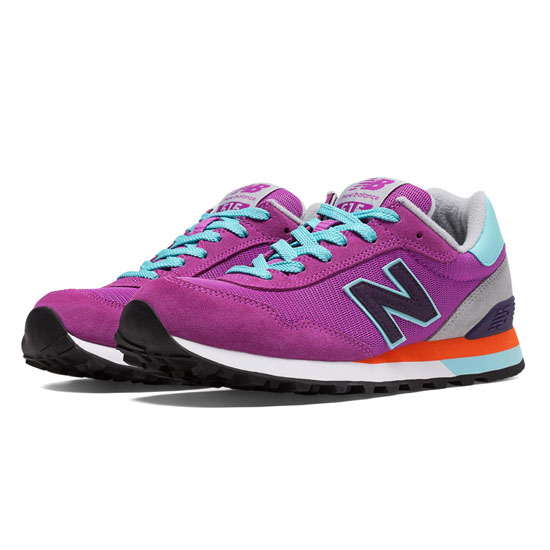 WOMEN'S New Balance 515 Voltage Violet with Black & Blue Light