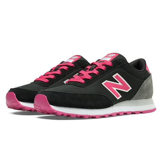 WOMEN'S New Balance Ballistic 501 Black with Popsicle Pink & Grey