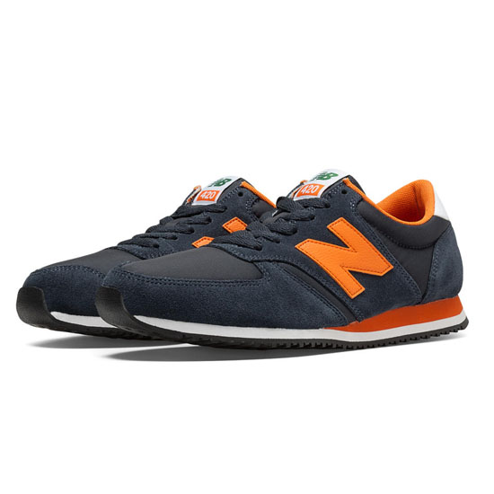 WOMEN'S New Balance 70s Running 420 Navy with Orange