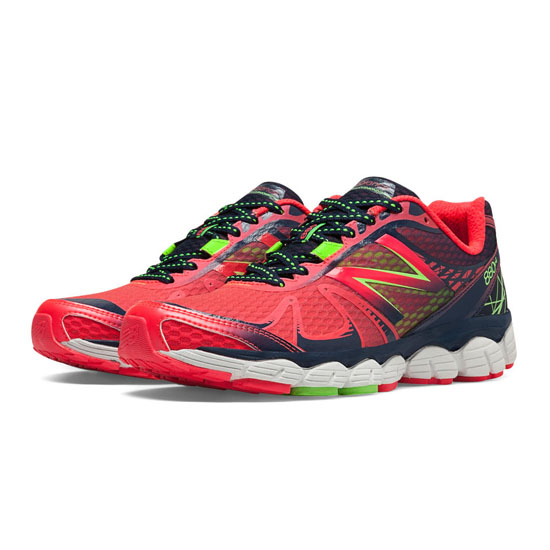 WOMEN'S New Balance 880v4 Bright Cherry with Black & Green Apple