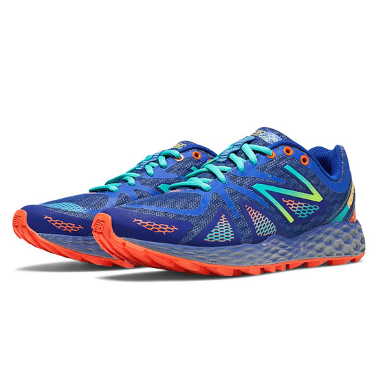 WOMEN'S New Balance Fresh Foam 980 Trail Blue with Green Flash & Orange