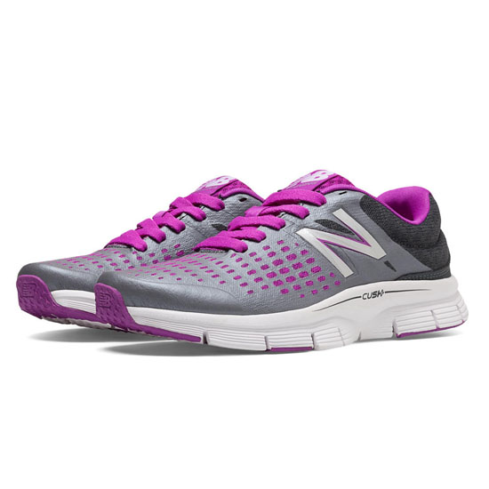 WOMEN'S New Balance 775 Silver with Pink Shock & Charcoal