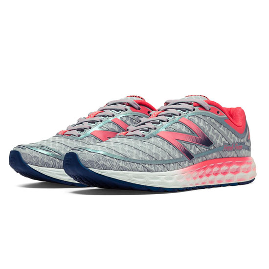 WOMEN'S New Balance Fresh Foam Boracay Silver with Coral Pink