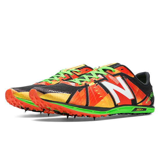 WOMEN'S New Balance XC5000 Spike Red with Green & Black