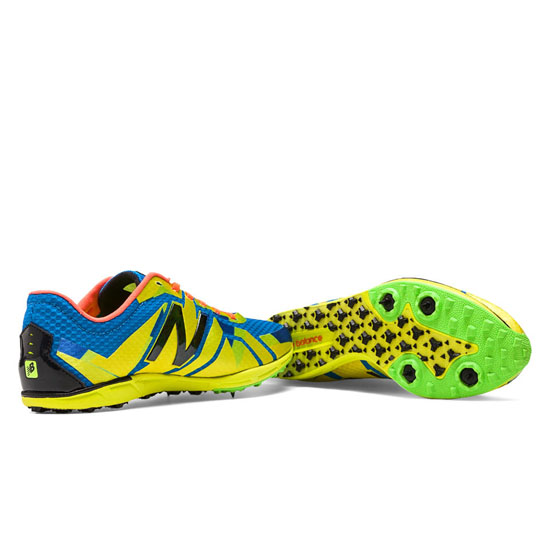 WOMEN\'S New Balance XC5000 Spike Yellow with Blue & Green