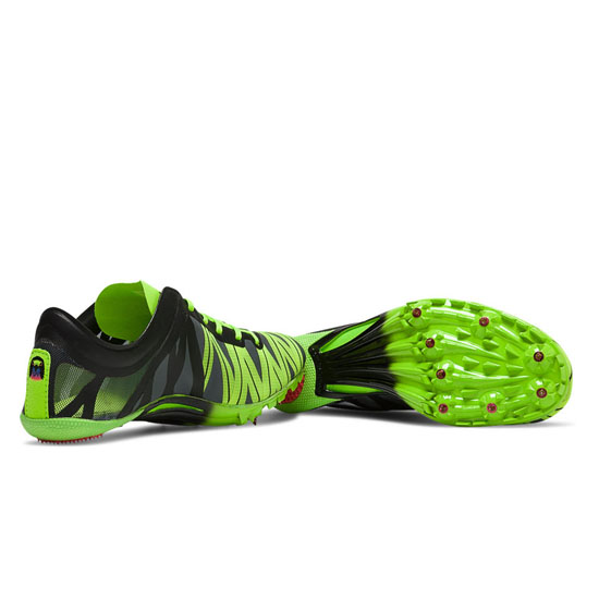 WOMEN\'S New Balance SD400v2 Spike Black with Chemical Green