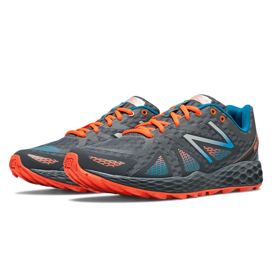 WOMEN'S New Balance Fresh Foam 980 Trail Grey with Orange & Blue