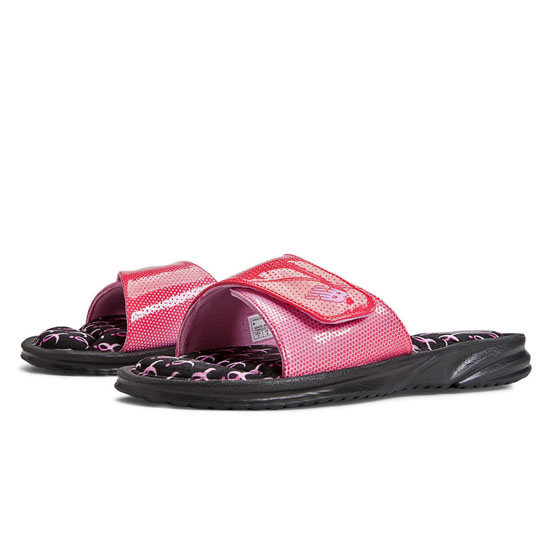 WOMEN'S New Balance Pink Ribbon Slide Black with Komen Pink