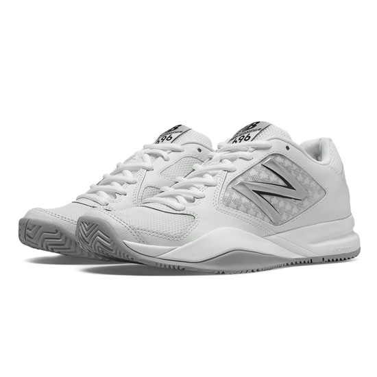 WOMEN'S New Balance 696v2 White with Silver