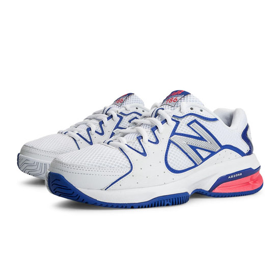 WOMEN'S New Balance 786 White with Blue & Pink