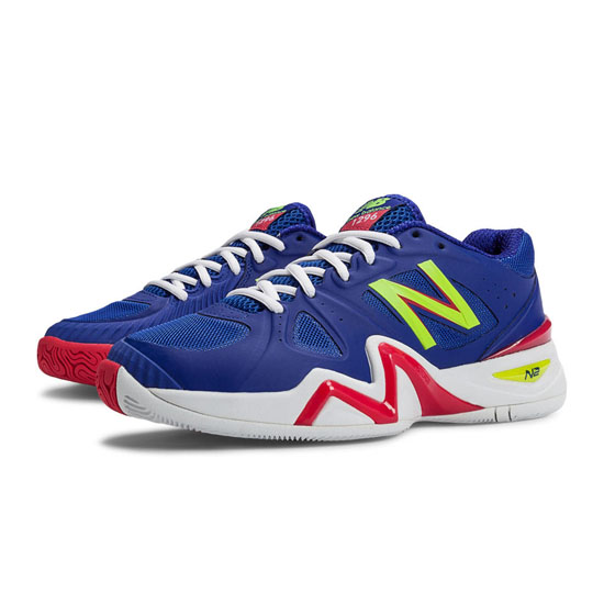 WOMEN'S New Balance 1296 Blue with Coral & Lime