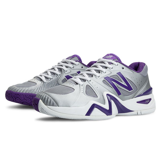 WOMEN'S New Balance 1296 Silver with Purple