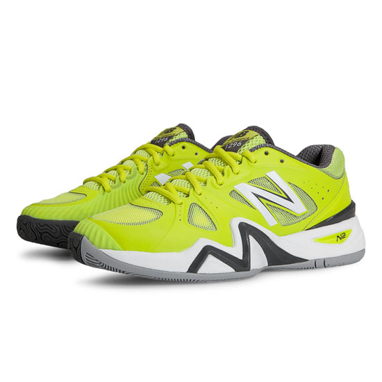 WOMEN'S New Balance 1296 Lime Yellow with White & Dark Grey