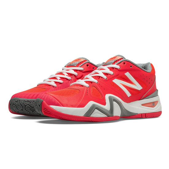 WOMEN'S New Balance 1296 Coral Pink with White & Grey