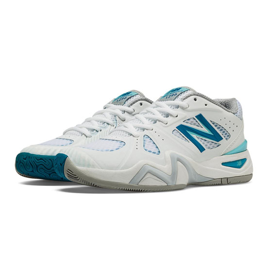 WOMEN'S New Balance 1296 White with Blue & Blue Atoll
