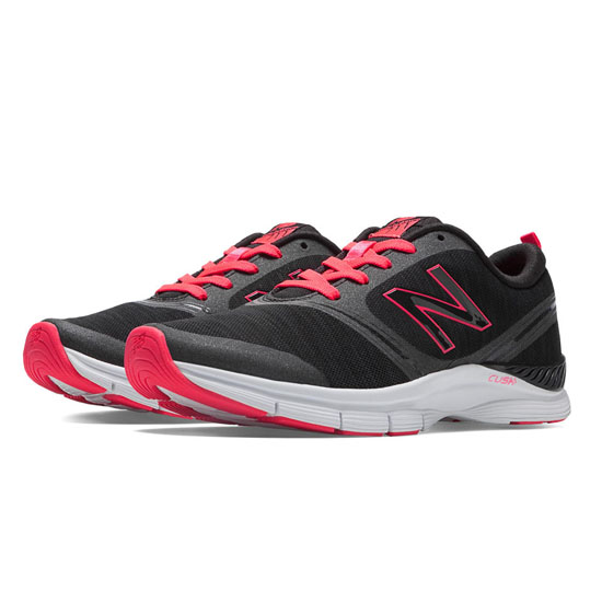 WOMEN'S New Balance 711 Heathered Black with Diva Pink