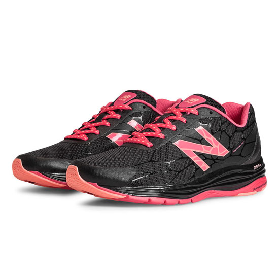 WOMEN'S New Balance 1745 Black with Coral Pink