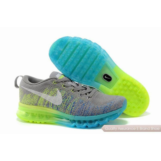 2014 Nike Air Max Flyline Womens Shoes Light Grey Yellow