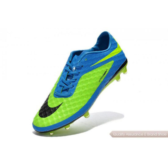 Nike Hypervenom Phantom FG fluorescent green/blue/black Shoes
