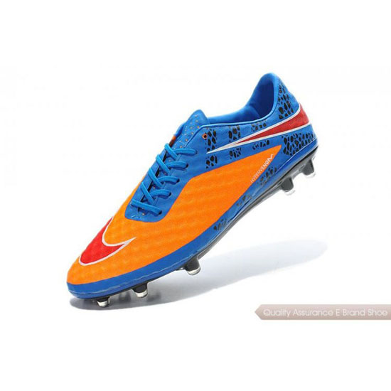 Nike Hypervenom Phantom FG blue/orange/red/black Shoes