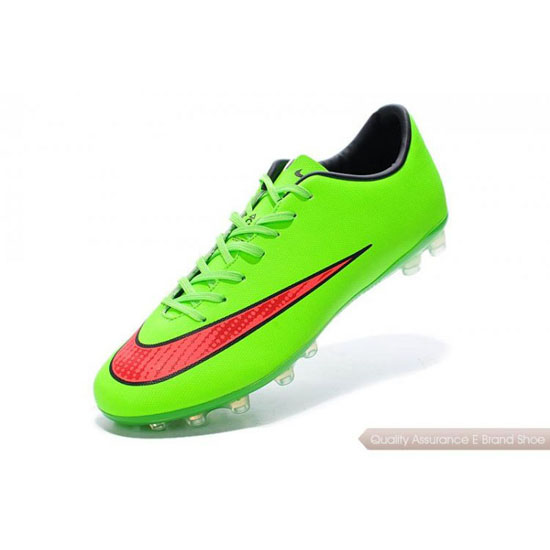 Nike Mercurial Superfly fluorescent green/cherry Shoes