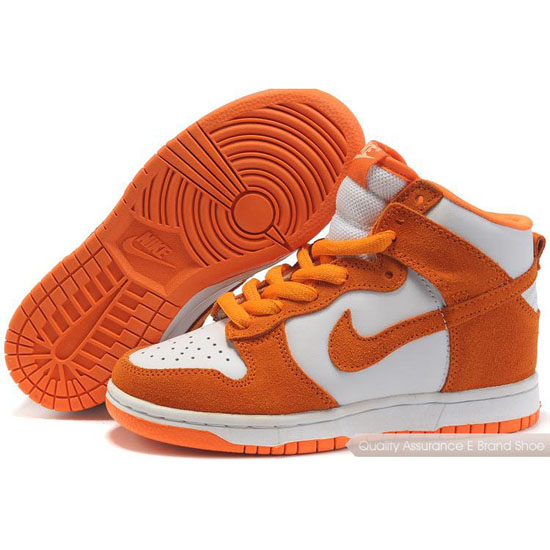 Nike Dunk SB Kids orange/white