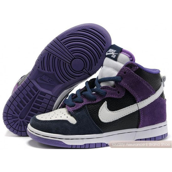 Nike Dunk SB Kids purple/white/black
