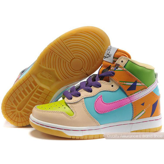Nike Dunk SB Kids purple/peach/yellow