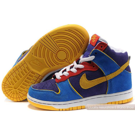 Nike Dunk SB Kids purple/red/blue