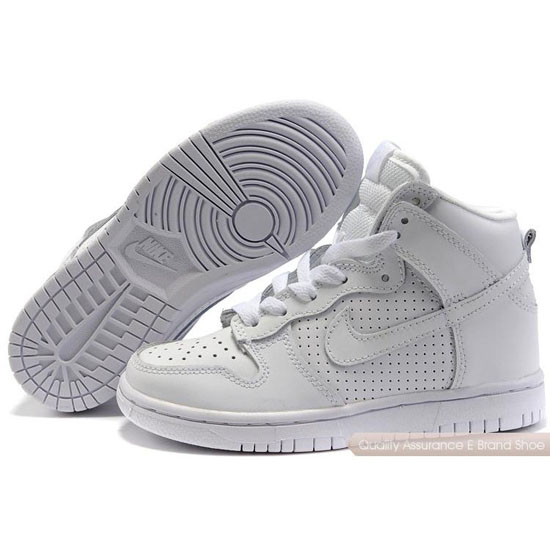 Nike Dunk SB Kids white