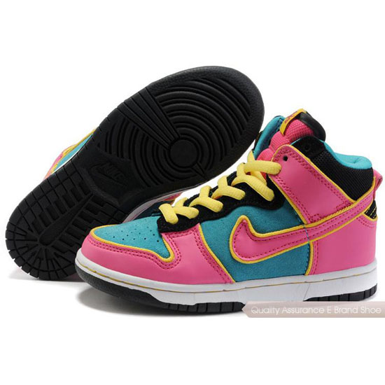 Nike Dunk SB Kids peach/yellow/black