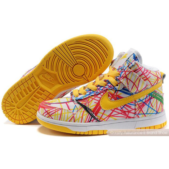 Nike Dunk SB Kids white/yellow