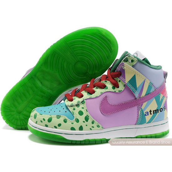 Nike Dunk SB Kids green/purple/red