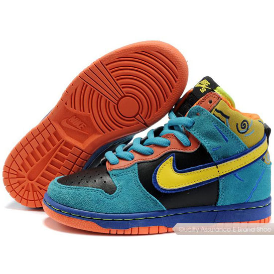 Nike Dunk SB Kids blue/yellow/black