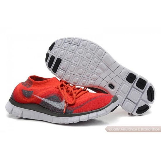 Nike Free Flyknit Womens Red White