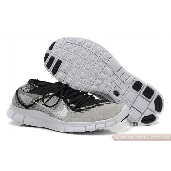 Nike Free Flyknit Womens Gray White