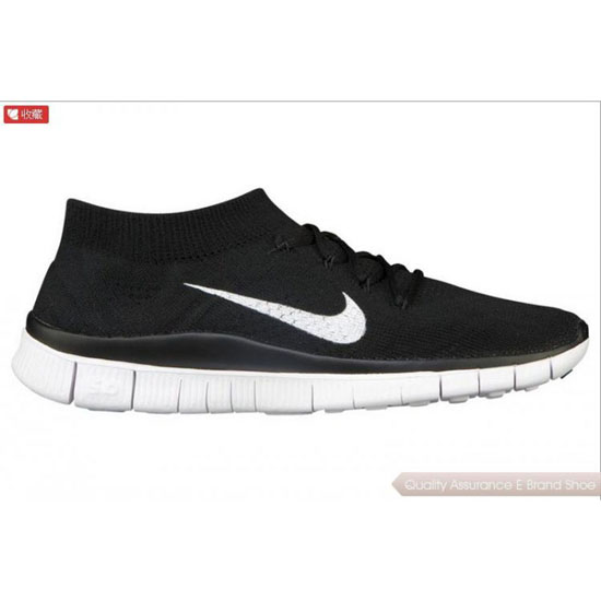 Nike Free Flyknit Womens Black White