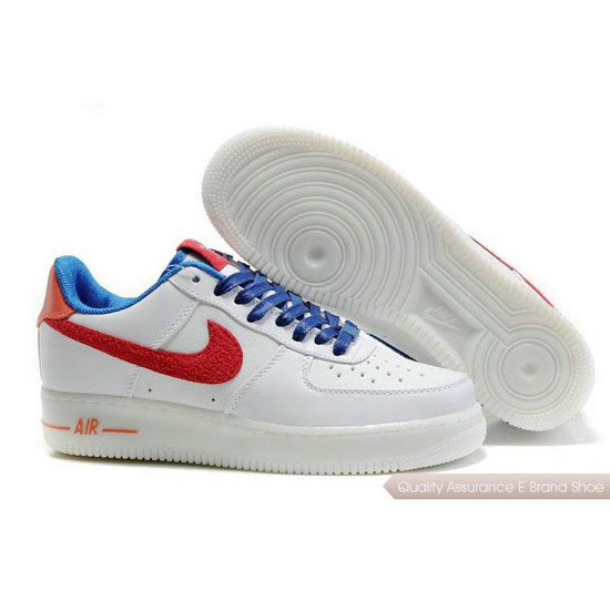 Nike Air Force 1 Womens red/blue/white