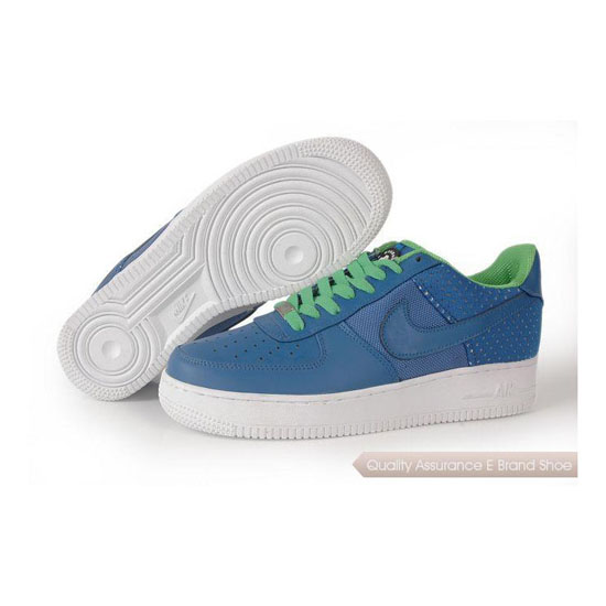 Nike Air Force 1 Womens fluorescent green/blue