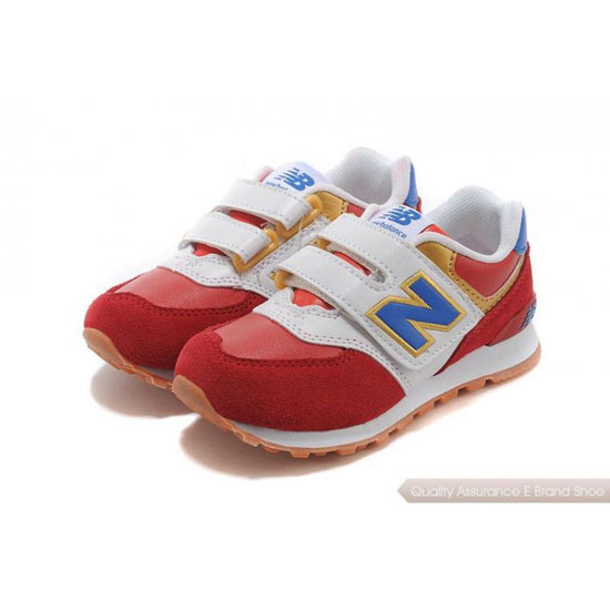 New Balance Kids white/blue/red