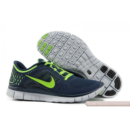 Nike Free 5.0 V3 Mens Dark Blue Yellow Shoes