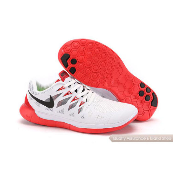 Nike Free 5.0 World Cup Unisex White Red Shoes
