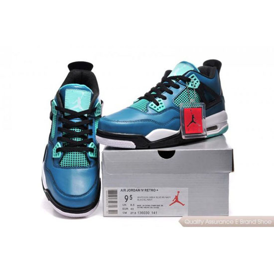 Nike Air Jordan 4 Dark Blue Green Shoes