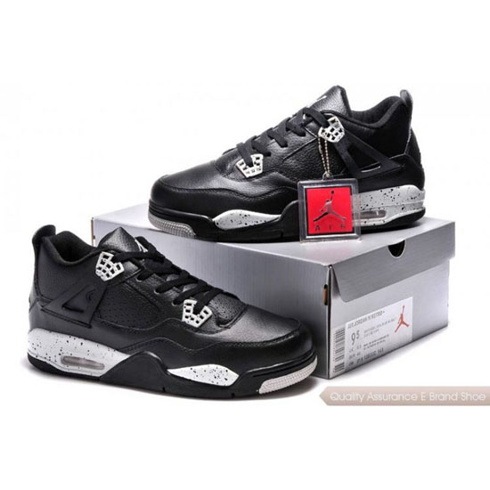 Nike Air Jordan 4 Black White Shoes