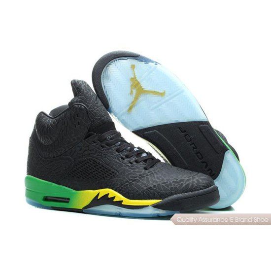 Nike Air Jordan Black Yellow Green Shoes