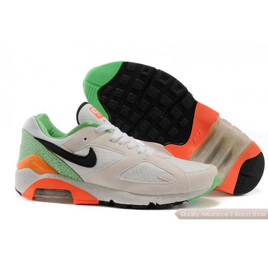 Nike AIR MAX 180 EM Men Beige Black Green Shoes
