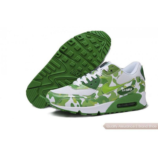 Nike Air Max 90 Mens Womens White Green Shoes