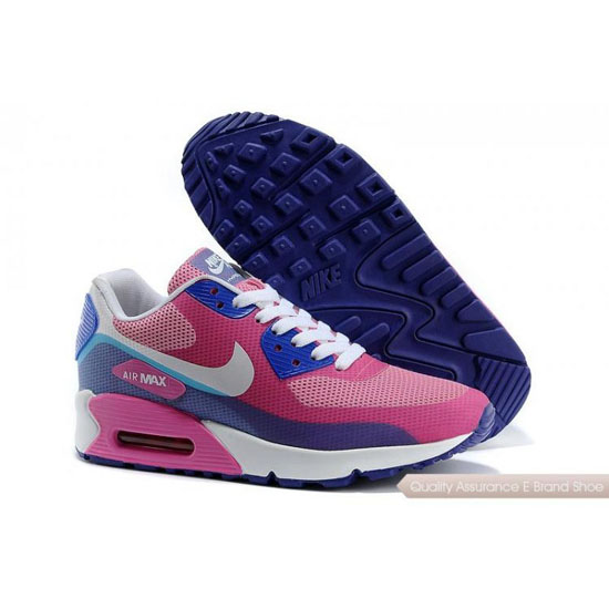Nike Air Max 90 Hyperfuse Womens Light Pink Dark Blue Shoes